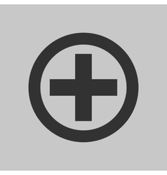 Black cross icon vector