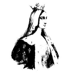 Blanche of castille vintage vector