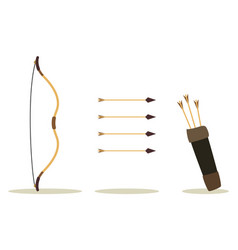 bow arrow and case vector image