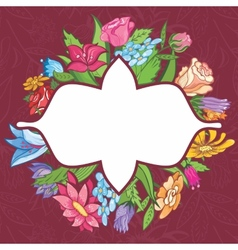 bright flower frame vector image