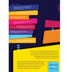 brochure design templates collection vector image