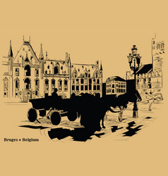 brown hand drawing holland 6 vector image
