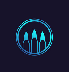 bullets ammo vector image