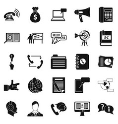 chat icons set simple style vector image