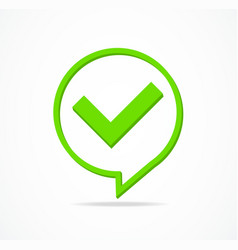 check mark yes or confirmation green sign vector image