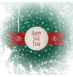 Christmas and New Year white Label on red Ribbon vector image