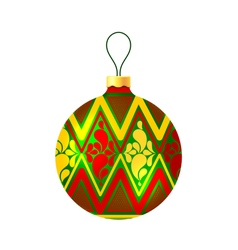 Christmas ball on white background vector image