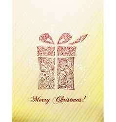 Christmas with gift vector