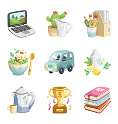 Colorful miscellaneous icons collection vector image