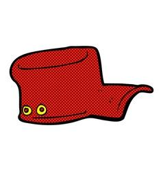 Comic cartoon uniform hat vector