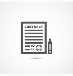 contract icon on white vector image