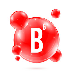 creative of vitamin b6 vector image