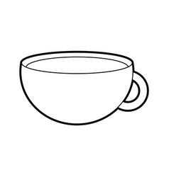 Cup of beverage refreshment aroma liquid vector