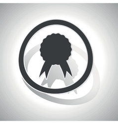 Curved certificate sign icon vector