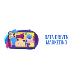 data driven marketing concept banner header vector image