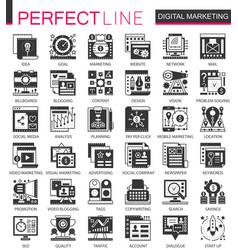 Digital marketing seo black mini concept vector