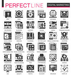 digital marketing seo black mini concept vector image
