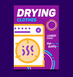 drying clothes creative advertising banner vector image