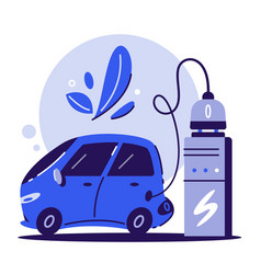 electric car charging concept cartoon vector image