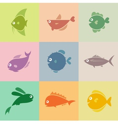 Fish group vector