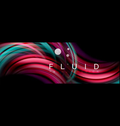 flowing glowing color motion concept trendy vector image
