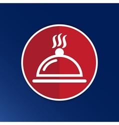 Food platter serving sign icon logo food tableware vector image