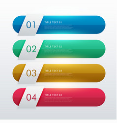 four steps colorful infohraphic template design vector image