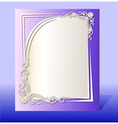 frame for photo with precious stones vector image