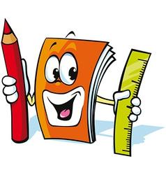 Funny exercise book cartoon vector