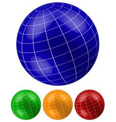 grid wireframe spheres globes vector image