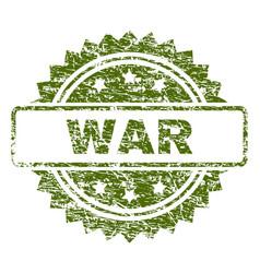 Grunge textured war stamp seal vector