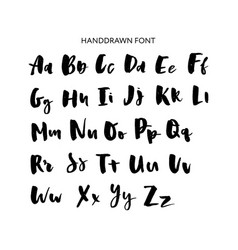 hand drawn lettering set alphabet custom vector image