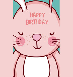happy birthday to you bunny cartoon vector image