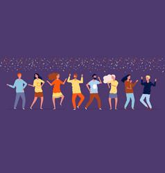 happy dancers night party people dancing under vector image