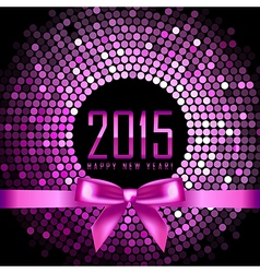 Happy New Year 2015 background with disco lights vector