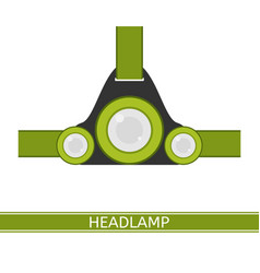 Headlamp icon vector
