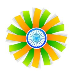 Indian flag style design with wheel vector