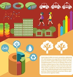 Infographic with graphs and people vector image
