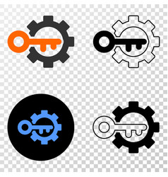 Key options gear eps icon with contour vector