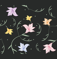 Lily flower pattern vector