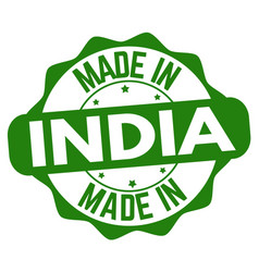 made in india sign or stamp vector image