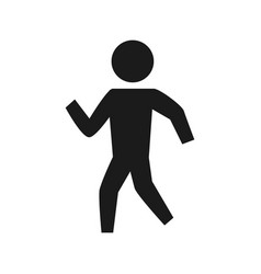 man silhouette walking vector image