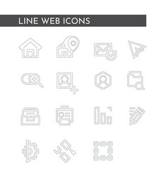 media web icons for business finance and vector image