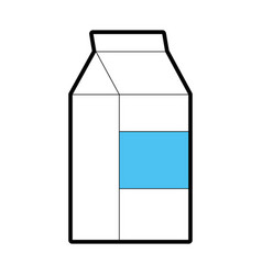 Milk box isolated vector