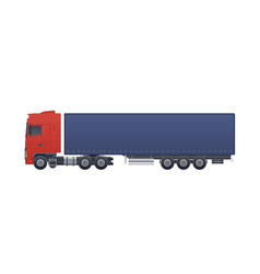modern truck or lorry isolated on white background vector image