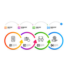 Move gesture recovery photo and message icons set vector