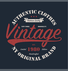 New york vintage brand graphic for t-shirt vector