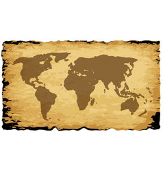 Old world map on parchment vector