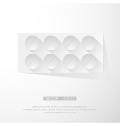 pack of pills vector image
