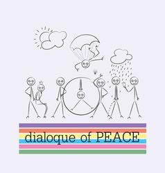 Peace dialogue cartoon vector